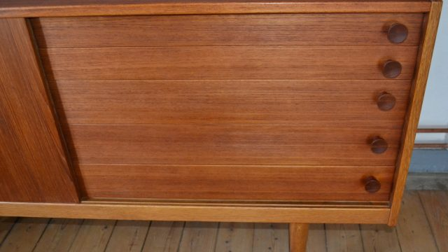 Swedish Teak & Oak Sideboard by Yngve Ekström for Hugo Troeds, 1950s