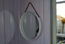 Swedish Solid Oakwood Mirror by Uno and Östen Kristiansson for Luxus, 1967