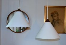 Model 580 Pendants by Uno & Östen Kristiansson for Luxus, Set of 2