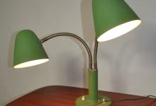 Vintage 2-Arm Adjustable Table Lamp