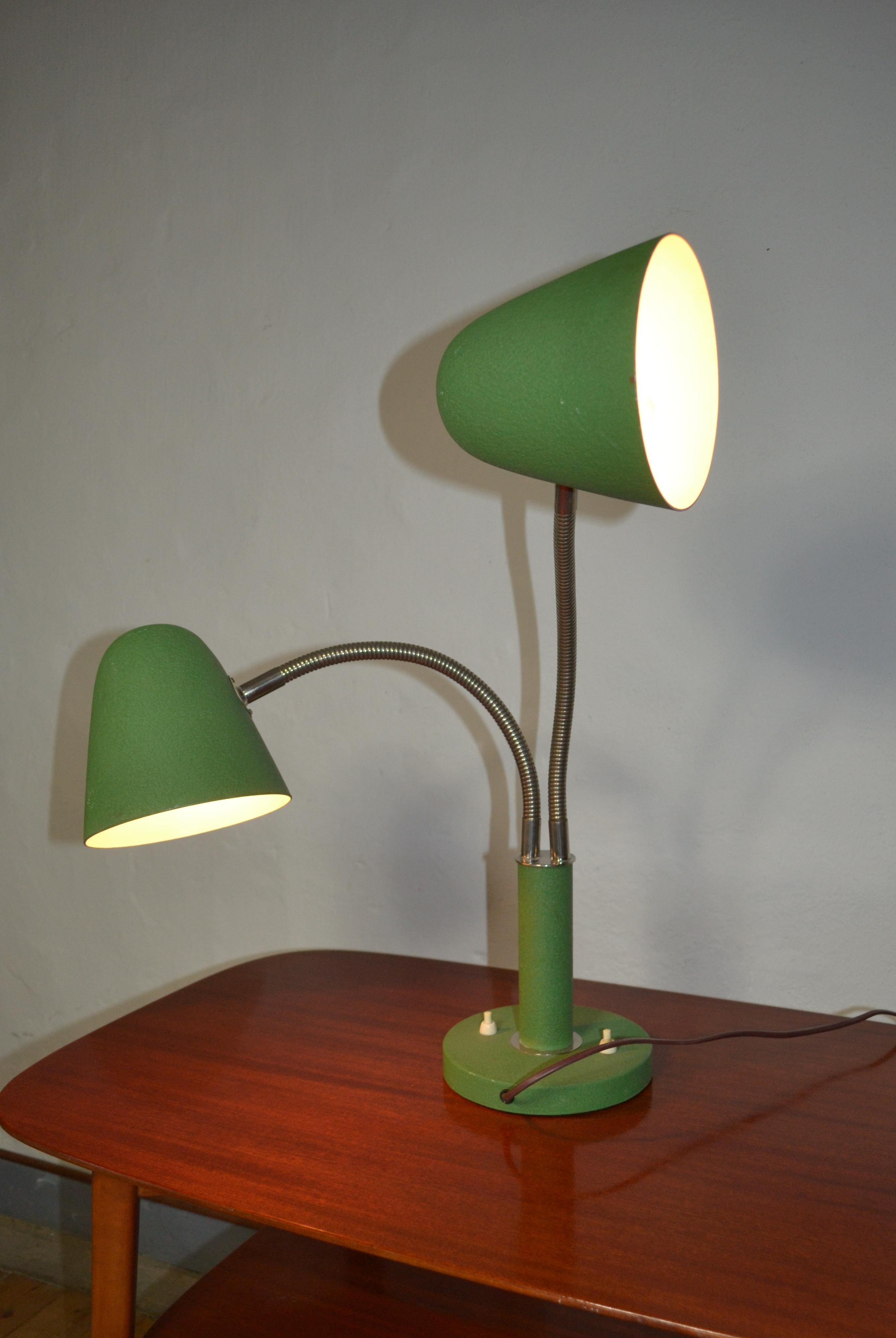 Vintage 2 Arm Adjustable Table Lamp Lisas Retro Design