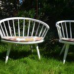 Model Arka Easy Chairs by Yngve Ekström for Stolab, 1950s, Set of 2