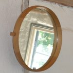 Oak Wall Mirror by Östen Kristiansson & Uno Kristiansson for Luxus, 1952
