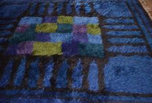 Blue High-Pile Rug by Viola Gråsten for NK textilkammare, 1966