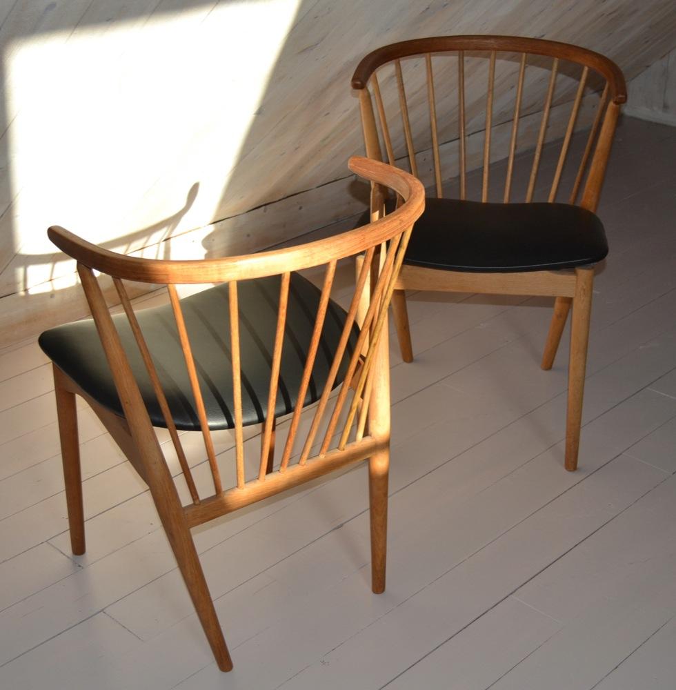 Retro wood dining set - Diningchairs Helge Sibast 4 Lisas Retro Design