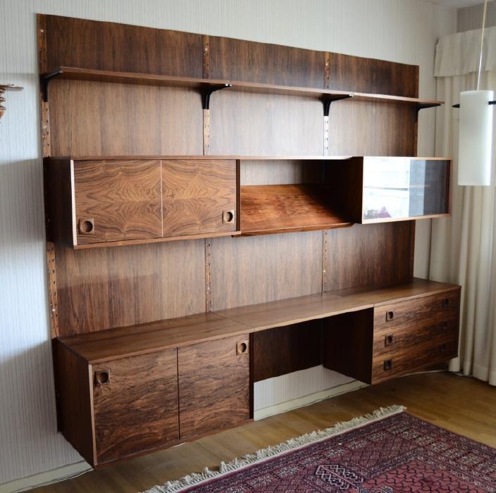 Wall bookshelf Lisas retro design