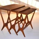 Nesting tables in teak (3)