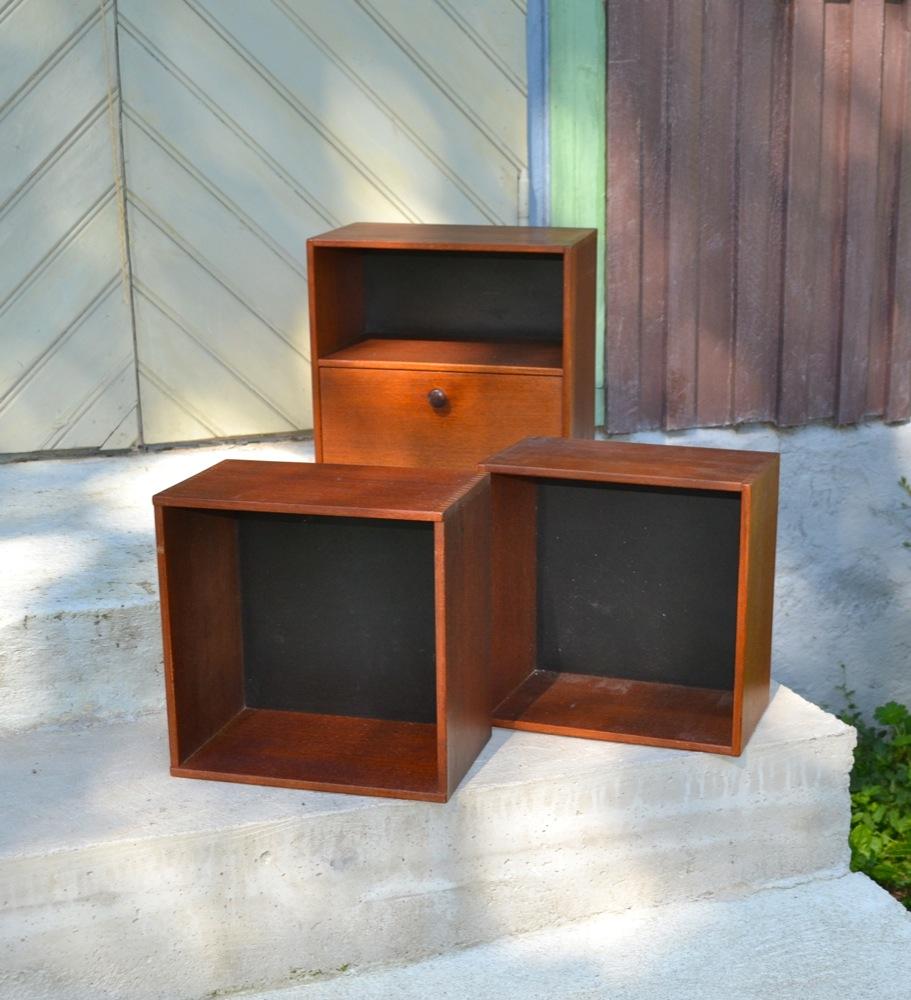 Teak boxes lisas retro design