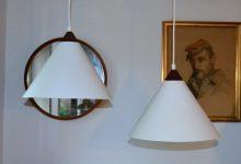 Model 580 Pendants by Uno & Östen Kristiansson for Luxus, Set of 2