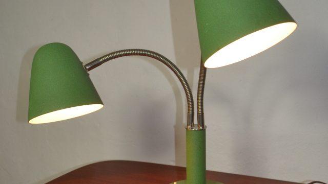 Vintage 2-Arm Adjustable Table Lamp