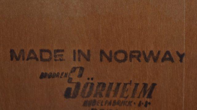 Norwegian Teak Sideboard by Bröderna Sörheim, 1960s