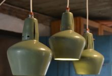 Vintage Aluminum Pendant Light, 1950s