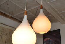 Double Pendant Light by Uno & Östen Kristiansson for Luxus, 1960s