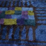 Blue High-Pile Rug by Viola Gråsten for NK textilkammare, 1966