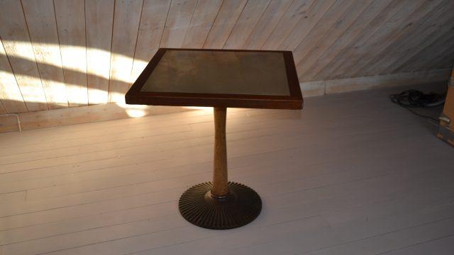Vintage Brass & Oak Coffee Table from Nordiska Kompaniet