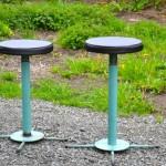 Industrial iron stools (2)